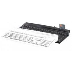 PrehKeyTec MCI 3100, QWERTY, alpha, LCM, USB, blanc